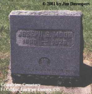 MOON, JOSEPH G. - Larimer County, Colorado   JOSEPH G. MOON - Colorado Gravestone Photos