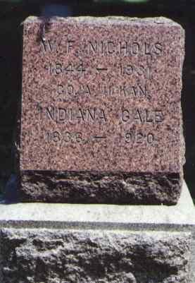 NICHOLS, INDIANA GALE - Larimer County, Colorado | INDIANA GALE NICHOLS - Colorado Gravestone Photos