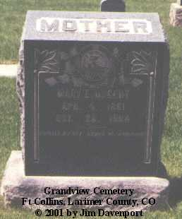 NUGENT, MARY E. - Larimer County, Colorado | MARY E. NUGENT - Colorado Gravestone Photos