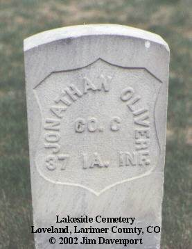 OLIVER, JONATHAN - Larimer County, Colorado | JONATHAN OLIVER - Colorado Gravestone Photos