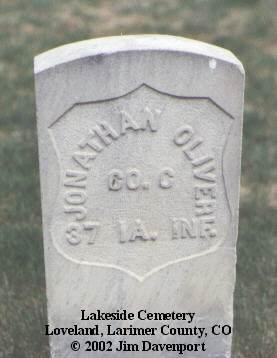 OLIVER, JONATHAN - Larimer County, Colorado | JONATHAN OLIVER - Colorado Gravestone Photos