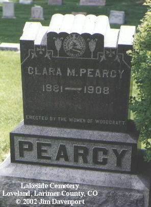 PEARCY, CLARA M. - Larimer County, Colorado | CLARA M. PEARCY - Colorado Gravestone Photos
