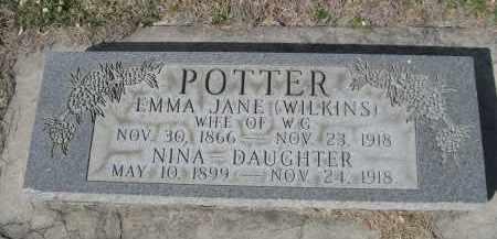 WILKINS POTTER, IMMA JANE - Larimer County, Colorado | IMMA JANE WILKINS POTTER - Colorado Gravestone Photos