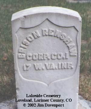 RENSHAW, BRISON - Larimer County, Colorado   BRISON RENSHAW - Colorado Gravestone Photos