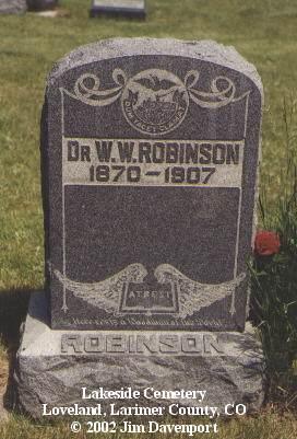 ROBINSON, DR. W. W. - Larimer County, Colorado | DR. W. W. ROBINSON - Colorado Gravestone Photos