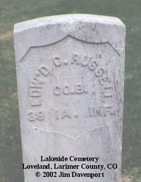 RUSSELL, EDW'D C. - Larimer County, Colorado | EDW'D C. RUSSELL - Colorado Gravestone Photos