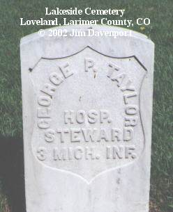 TAYLOR, GEORGE P. - Larimer County, Colorado | GEORGE P. TAYLOR - Colorado Gravestone Photos