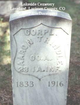 TRINDLE, AARON - Larimer County, Colorado | AARON TRINDLE - Colorado Gravestone Photos