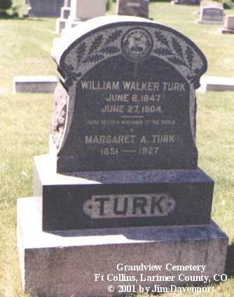 TURK, MARGARET A. - Larimer County, Colorado | MARGARET A. TURK - Colorado Gravestone Photos