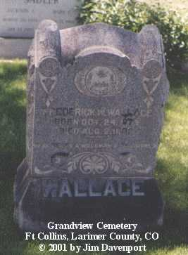 WALLACE, FREDERICK W. - Larimer County, Colorado | FREDERICK W. WALLACE - Colorado Gravestone Photos
