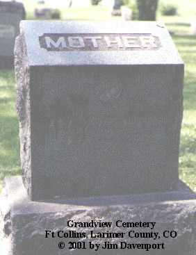WEYMOUTH, ADA J. - Larimer County, Colorado | ADA J. WEYMOUTH - Colorado Gravestone Photos