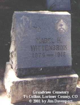 WITTENBRINK, MABEL H. - Larimer County, Colorado | MABEL H. WITTENBRINK - Colorado Gravestone Photos