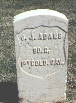 ADAMS, J. J. - Las Animas County, Colorado | J. J. ADAMS - Colorado Gravestone Photos