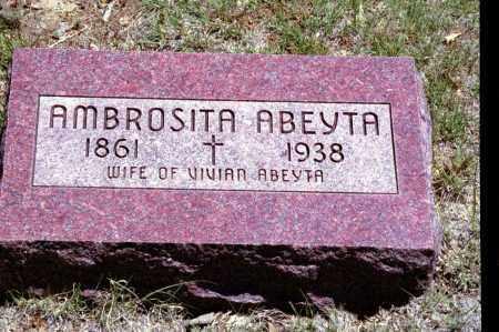 ABEYTA, AMBROSITA - Las Animas County, Colorado | AMBROSITA ABEYTA - Colorado Gravestone Photos