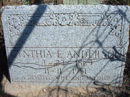 ANDERSON, CYNTHIA E - Las Animas County, Colorado   CYNTHIA E ANDERSON - Colorado Gravestone Photos