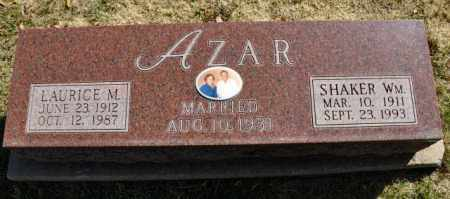 AZAR, SHAKER WM. - LAURICE M. - Las Animas County, Colorado | SHAKER WM. - LAURICE M. AZAR - Colorado Gravestone Photos