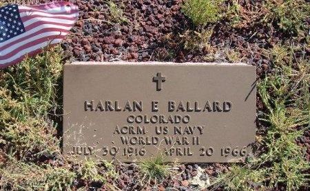 BALLARD (VETERAN WWII), HARLAN EDWARD - Las Animas County, Colorado | HARLAN EDWARD BALLARD (VETERAN WWII) - Colorado Gravestone Photos