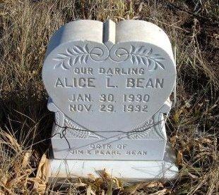 BEAN, ALICE L - Las Animas County, Colorado | ALICE L BEAN - Colorado Gravestone Photos