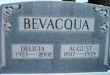 BEVACQUA, AUGUST - Las Animas County, Colorado | AUGUST BEVACQUA - Colorado Gravestone Photos