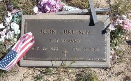 BURLESON (VETERAN WWII), JOHN - Las Animas County, Colorado | JOHN BURLESON (VETERAN WWII) - Colorado Gravestone Photos