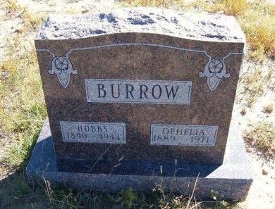 BURROW, OPHELIA - Las Animas County, Colorado | OPHELIA BURROW - Colorado Gravestone Photos