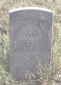 CANNON, THOS. P. - Las Animas County, Colorado | THOS. P. CANNON - Colorado Gravestone Photos