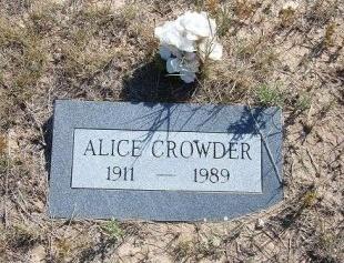 CROWDER, ALICE - Las Animas County, Colorado | ALICE CROWDER - Colorado Gravestone Photos