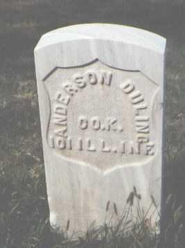 DULING, ANDERSON - Las Animas County, Colorado | ANDERSON DULING - Colorado Gravestone Photos