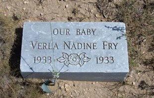 FRY, VERLA NADINE - Las Animas County, Colorado | VERLA NADINE FRY - Colorado Gravestone Photos