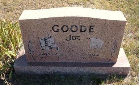 GOODE, JACK - Las Animas County, Colorado | JACK GOODE - Colorado Gravestone Photos