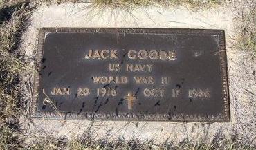 GOODE (VETERAN WWII), JACK - Las Animas County, Colorado | JACK GOODE (VETERAN WWII) - Colorado Gravestone Photos