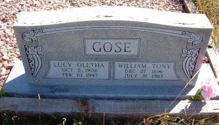 GOSE, LUCY OLETHA  - Las Animas County, Colorado | LUCY OLETHA  GOSE - Colorado Gravestone Photos