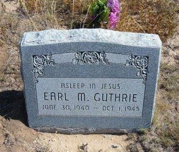 GUTHRIE, EARL M - Las Animas County, Colorado   EARL M GUTHRIE - Colorado Gravestone Photos