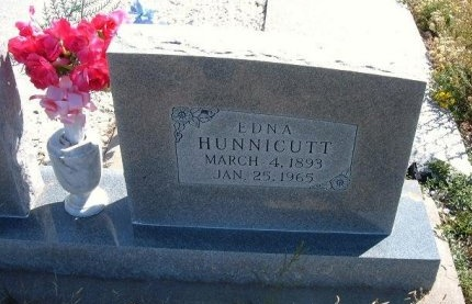 HUNNICUTT, NANCY EDNA - Las Animas County, Colorado | NANCY EDNA HUNNICUTT - Colorado Gravestone Photos