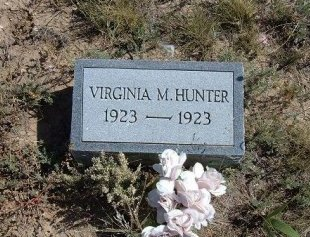 HUNTER, VIRGINIA M - Las Animas County, Colorado | VIRGINIA M HUNTER - Colorado Gravestone Photos