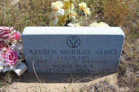JAMES (VETERAN WWII), REUBEN MURRAY - Las Animas County, Colorado | REUBEN MURRAY JAMES (VETERAN WWII) - Colorado Gravestone Photos