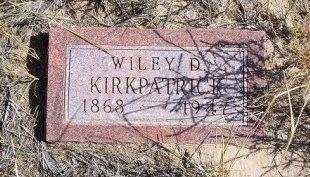 """KIRKPATRICK, WILEY DEWITT """"DEE"""" - Las Animas County, Colorado   WILEY DEWITT """"DEE"""" KIRKPATRICK - Colorado Gravestone Photos"""