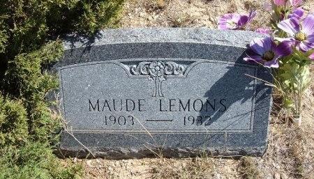 LEMONS, MAUDE - Las Animas County, Colorado | MAUDE LEMONS - Colorado Gravestone Photos