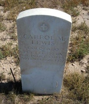 LEWIS (VETERAN WWI), CARROL M - Las Animas County, Colorado | CARROL M LEWIS (VETERAN WWI) - Colorado Gravestone Photos