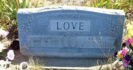 LOVE, RALPH - Las Animas County, Colorado | RALPH LOVE - Colorado Gravestone Photos