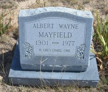 MAYFIELD, ALBERT WAYNE - Las Animas County, Colorado | ALBERT WAYNE MAYFIELD - Colorado Gravestone Photos