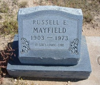 MAYFIELD, RUSSELL E - Las Animas County, Colorado | RUSSELL E MAYFIELD - Colorado Gravestone Photos