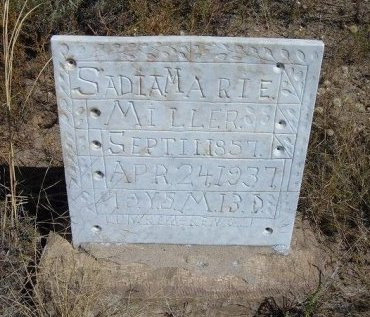 MILLER, SADIA MARIE - Las Animas County, Colorado | SADIA MARIE MILLER - Colorado Gravestone Photos