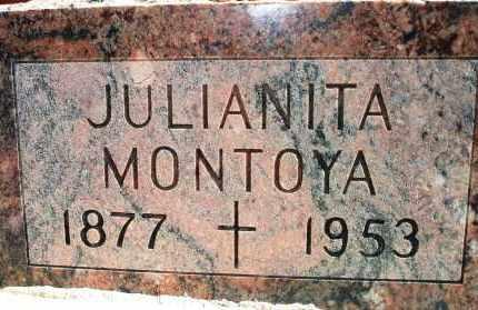 MONTOYA, JULIANITA - Las Animas County, Colorado | JULIANITA MONTOYA - Colorado Gravestone Photos
