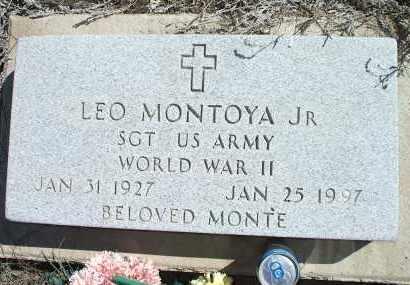 MONTOYA, LEO, JR. - Las Animas County, Colorado   LEO, JR. MONTOYA - Colorado Gravestone Photos