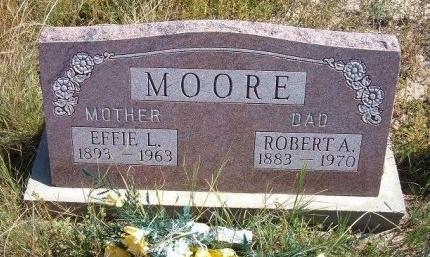 MOORE, EFFIE L - Las Animas County, Colorado | EFFIE L MOORE - Colorado Gravestone Photos