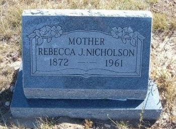 NICHOLSON, REBECCA J - Las Animas County, Colorado | REBECCA J NICHOLSON - Colorado Gravestone Photos
