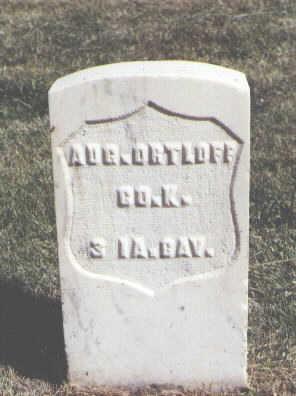ORTLOFF, AUG. - Las Animas County, Colorado | AUG. ORTLOFF - Colorado Gravestone Photos