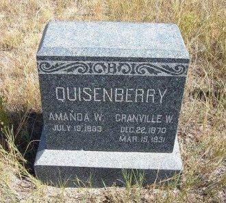 QUISENBERRY, GRANVILLE W - Las Animas County, Colorado   GRANVILLE W QUISENBERRY - Colorado Gravestone Photos