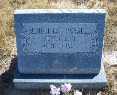 RUSSELL, MINNIE LOU - Las Animas County, Colorado | MINNIE LOU RUSSELL - Colorado Gravestone Photos